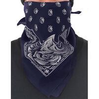 Og Abel Ogabel Unisex Money Rose Bandana Navy Blue Handkerchief Facemask on Sale