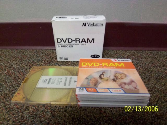 Verbatim DVD-RAM 4.7GB 3X Single-Sided Type 4 Cartridge 95002