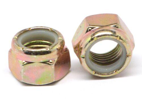 "NE Standard Yel Zinc Nylon Insert Locknut 5//16/""-18 Coarse Gr A Nyloc"