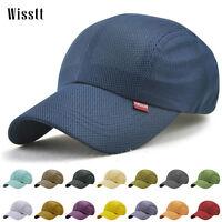 Men Women Vintage Blank Mesh Trucker Hat Snapback Baseball Cap Outdoor Golf Hats