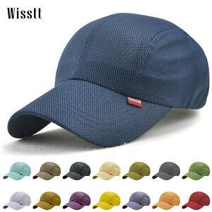 351710cfa1d Image is loading Men-Women-Vintage-Blank-Mesh-Trucker-Hat-Snapback-