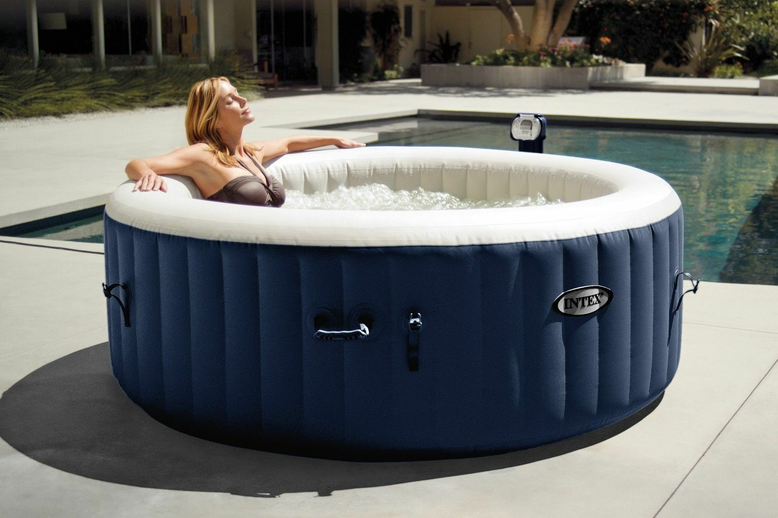 Intex Pure Spa 4 Person Inflatable Portable Heated Bubble Hot Tub ...