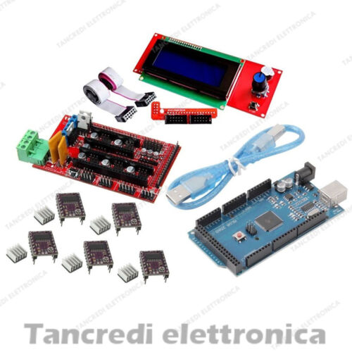 Kit RAMPS 1.4 Arduino Mega 2560 5x Driver DRV8825 Controller LCD 20x4 3D