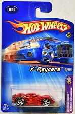 HOT WHEELS 2005 FERRARI 360 MODENA X-RAYCERS 1/10 #051 FACTORY SEALED