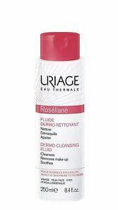 Uriage Eau Thermale Roseliane Anti Redness Dermo Cleansing Fluid Skin, 8.4 Fl Oz