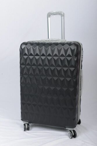 "Noir 4 Roues Spinner Valises Rigides Bagages Trolley Case Tailles 20/"" 24/"" 28/"""