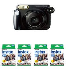 Fuji Fujifilm Instax 210 Wide Instant Film Camera, Black + 80 Prints