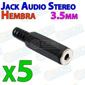 Conector Jack Audio 3,5mm Estereo - Hembra 3.5mm - Lote 5 Unidades - Arduino Ele Jouir D'Une RéPutation éLevéE Chez Soi Et à L'éTranger