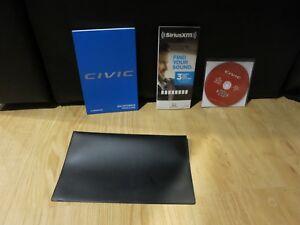 Honda Owners Manual >> 2018 Honda Civic Hatchback Hatch Owners Manual Book Set Case