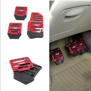 Car-Auto-Manual-Gear-Throttle-Brake-Clutch-Non-Slip-Foot-Pedal-Cover-Red-3-Pcs