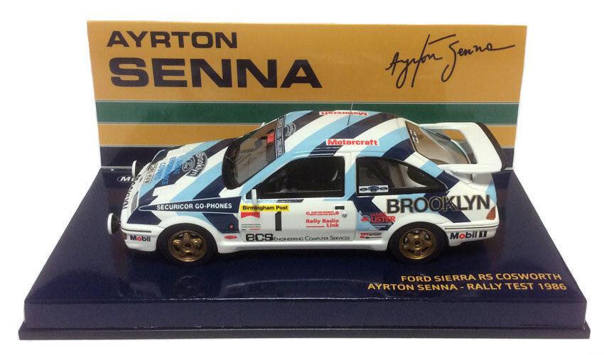 Minichamps Ford Sierra RS Cosworth Rallye  Test 1986-Ayrton Senna échelle 1 43  offre spéciale