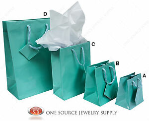 Gift Bags Teal Blue Tote Party Supplies Paper Gift Bags Holiday Bags Wedding
