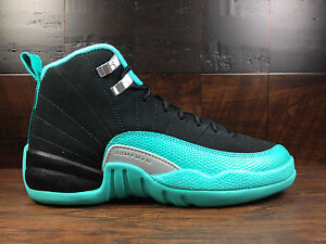 5726b3d6000148 Air Jordan 12 Retro XII (Black   Hyper Jade)  510815-017  GS GG Boys ...