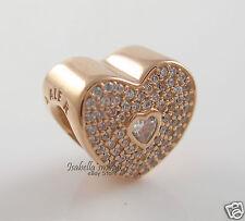 2a4cdb736a50b Authentic PANDORA Rose Gold Sparkle CZ Sweetheart Charm Pendant 781555CZ