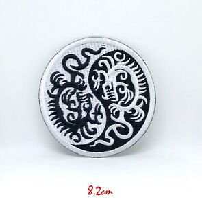 Yin Yang Heat Activator On Patch Sew On Embroidered Patch T shirt Patch