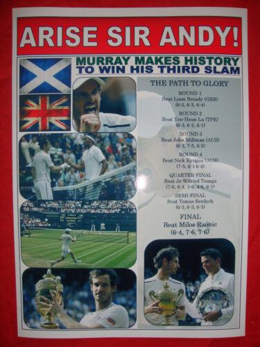 souvenir print Andy Murray 2016 Wimbledon champion