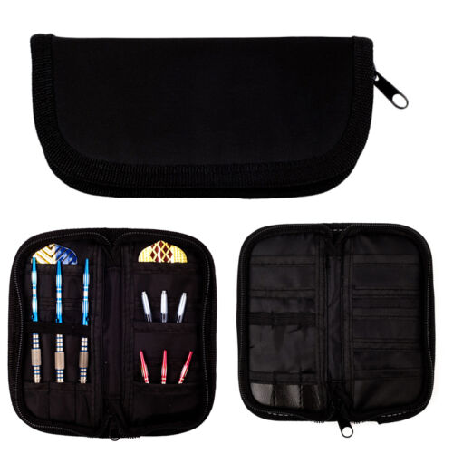 Holds 2 Sets New. Durable Black Super Darts and Accessories Case // Wallet