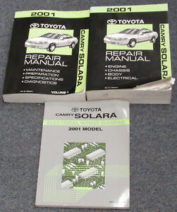 image is loading 2001-toyota-camry-solara-service-repair-manual-set-