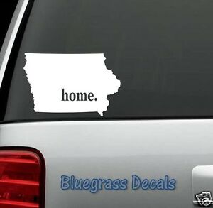 E1010 IOWA HOME STATE Decal Sticker Car Truck SUV Van LAPTOP MIRROR on power tool decals, bus decals, side by side decals, golf wall decals, golf graphics and decals, car decals, go kart decals, commercial decals, camper decals, chrysler decals, crane decals, heavy equipment decals, beach chair wall decals, chevy valve cover decals, ezgo decals, wheel decals, zero turn mower decals, 3 wheeler decals, golfer decals, gm goodwrench decals,