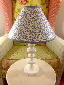 Croscill Filigree Savoy Shabby Chic French Country Lamp