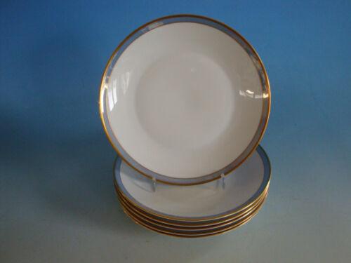 Rosenthal Porzellan Form 2000 6 Kuchenteller weiß blau gold RS1118-369