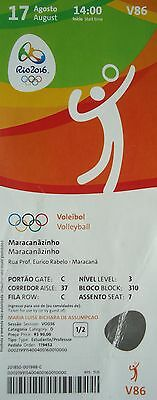 Open-Minded Ticket 17/8/2016 Olympic Games Volleyball Men's Usa Vs Polen Polska # V86 Complete Range Of Articles Olympic Memorabilia Rio 2016
