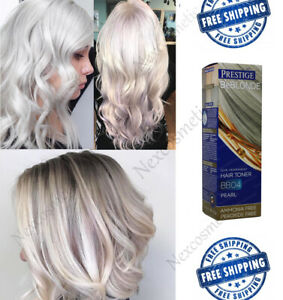 Details about Grey Hair Pearl Toner BB04 DYE BLOND HAIR 100ml NOAMONIA and  PEROXIDE