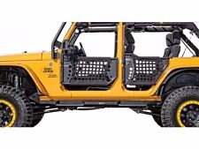 Body Armor Complete Set of 4 Trail Doors and 2 Trail Mirrors 07-18 Jeep  sc 1 st  eBay & Body Armor 4x4 Front u0026 Rear Doors Incl Trail Mirrors 07-17 Jeep ...