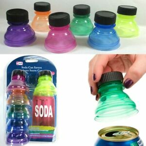 6-Pack-Soda-Can-Savers-Reusable-Pop-Drink-Covers-Lid-Protector-Spill-Free-Bottle