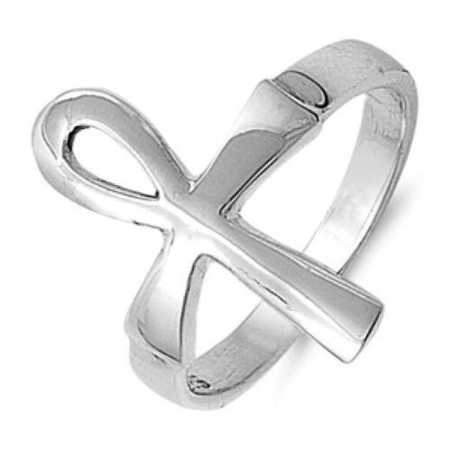 Égyptien Ankh Croix Bague Argent Sterling 925 Best Price Jewelry Sélectionnable