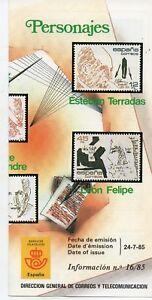 Espana-Personajes-ano-1985-DO-304