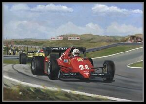 Print on Canvas 1983 Dutch Grand Prix Zandvoort by Toon Nagtegaal (LEF)