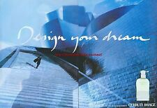 "Cerruti Image ""Design Your Dream"" 1999 Magazine Double Page Advert #4964"