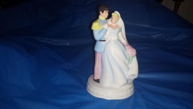 Disney Princess Cinderella Prince Charming Figure Figurine Wedding Cake Topper