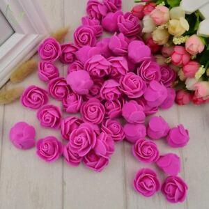 100-un-PE-Espuma-Falso-Flor-Cabeza-De-Rosas-Flores-Artificiales-Barato-Boda-Decoracion