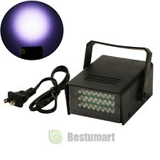 Mini DJ Strobe Light Flash Light Club Stage Lighting Party Disco 24LED Bulb Whit