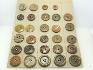 Vintage-29-Brown-Coat-Button-Lot-1930-039-s-1950-039-s-Mostly-1-034-and-Over
