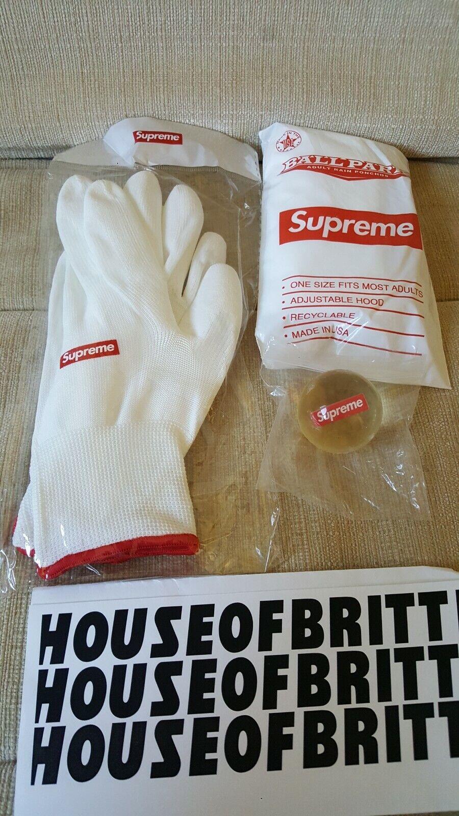 Supreme Bounce Ball, Ballpark Poncho & Rubberized Gloves Bouncy Ball Park rubber