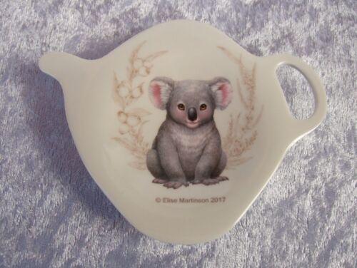 ASHDENE TEA BAG HOLDER//TEASPOON REST LITTLE AUSSIE FRIENDS BABY KOALA CUTE