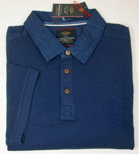 CASA MODA Herren Poloshirt Kurzarm Größe 4XL blau NEU UVP 59,99€