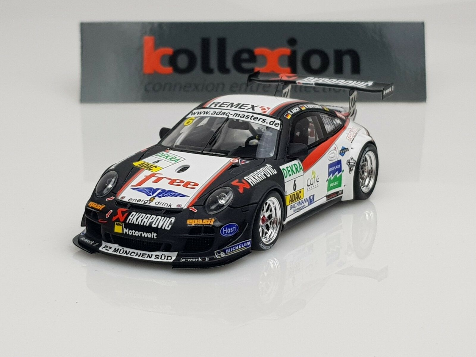 SPARK PORSCHE 911 GT3 R A-Workx n 6 Adac GT Masters 2010 Asch - Kentenich 1.43