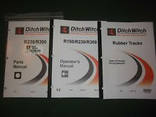 Ditch Witch R230 R300 Trencher Operators Operation Maintenance Parts Manual Book