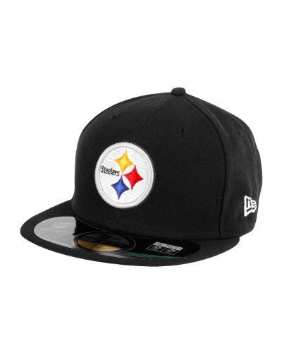 53cdf502d1c Pittsburgh Steelers Era 59fifty Fitted Flat Bill Hat Cap 7 Black NFL ...