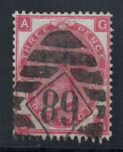 Gran-Bretagna-1867-MER-28-timbrato-80-3-pence-Regina-Vittoria-a-G
