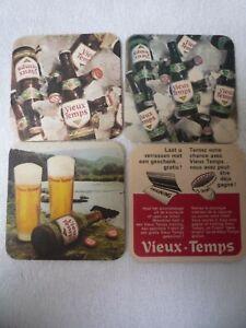 4 oude bierviltjes   VIEUX-TEMPS    sousbocks vieux         /