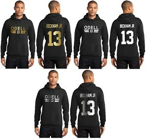 more photos b5c96 6c8e5 Details about New Odell Beckham Jr 13 New York Giants Hoodie Jersey Hooded  Sweatshirt