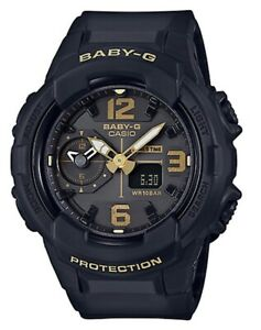 Casio-Baby-G-BGA230-1B-Dual-Time-Black-w-Gold-Anadigi-for-Women-COD-PayPal