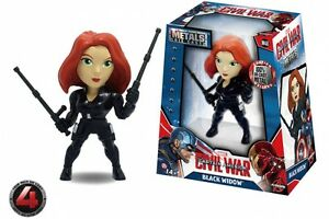 "Metalli DIE CAST-MARVEL guerra civile-Black Widow 4/"" Figura M48-NUOVO"