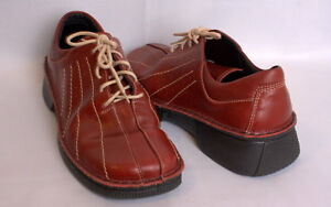 NAOT Burgundy Red Lace Up Leather Shoes