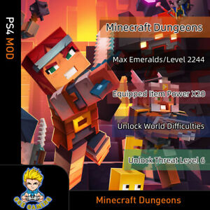 Minecraft-Dungeons-PS4-Mod-Emerald-Level-Equipped-Item-Power